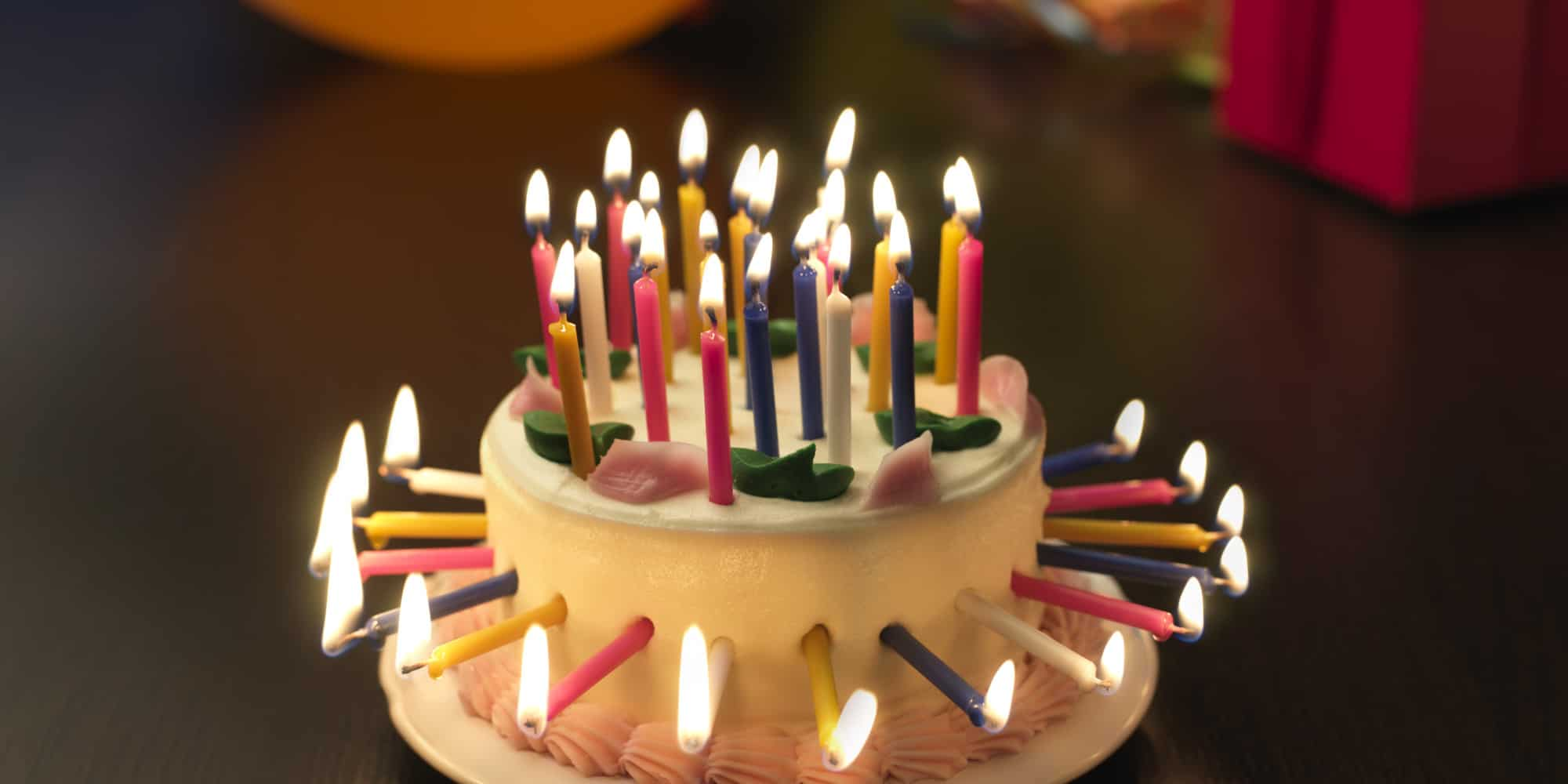 Birthday Cake With Many Candles