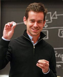 Jack Dorsey wears that iconic Dior Homme shirt under a zippered knit. His company may be called Square, but you can't call him square.