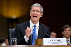 Tim Cook, CEO of Apple, Inc., shows that he can clean up well. But when he's not testifying to a Congressional committee, how well is he doing it?