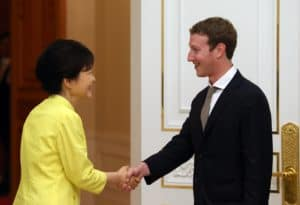 Mark Zuckerberg wore an [ill-fitting] black suit [worn improperly], with an unbuttoned at the collar [and oversized] dress shirt, with [messily knotted] tie, to a meeting with South Korea's president to discuss ways to enhance cooperation between the world's largest social networking service and the world's biggest technology manufacturer. It was good to see that he suited up, but this just goes to show that the devil is in the details, and Zuckerberg failed to measure up to the moment.