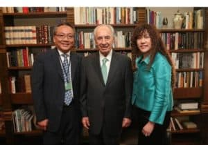 Marvell Co-Founders, Sehat Sutardja and Weili Dai meet with Israeli President Shimon Peres. Marvell is Israel's second largest chip maker.