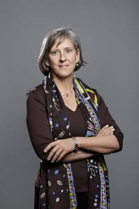 Tech venture capitalist Mary Meeker is doing all the right things in this executive headshot. Her hair is nicely styled. Her eyes and face are