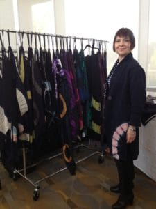 Designer Mary Jaeger makes beautiful hand made textiles. When you focus on craftsmanship, you appreciate the art, the design, and the hand quality that makes each item special. Whether you build your wardrobe with items created by talented designers like Mary, or with exquisitely made brand items, you will look like a person of high quality.